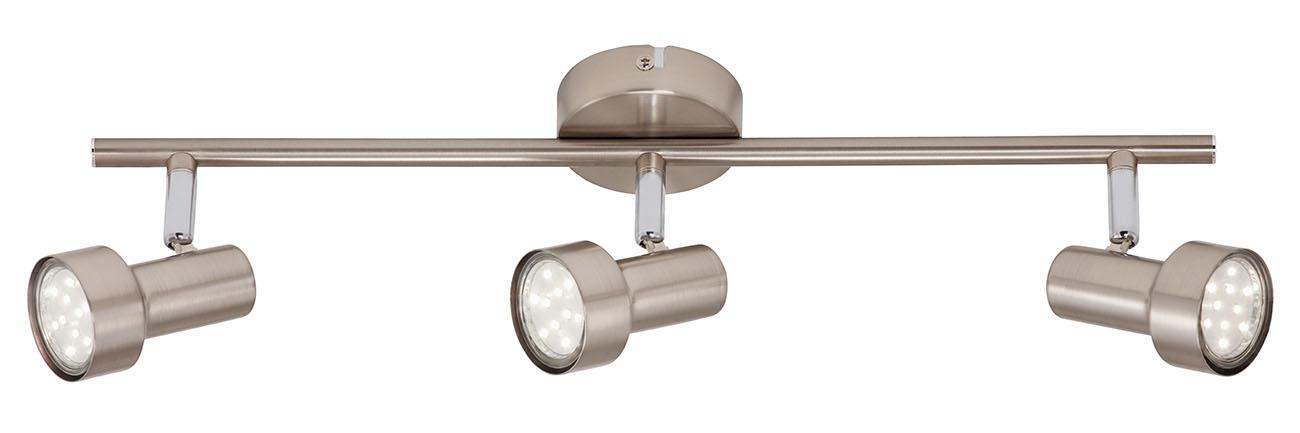 LED Spot Deckenleuchte, 48 cm, 9 W, Matt-Nickel