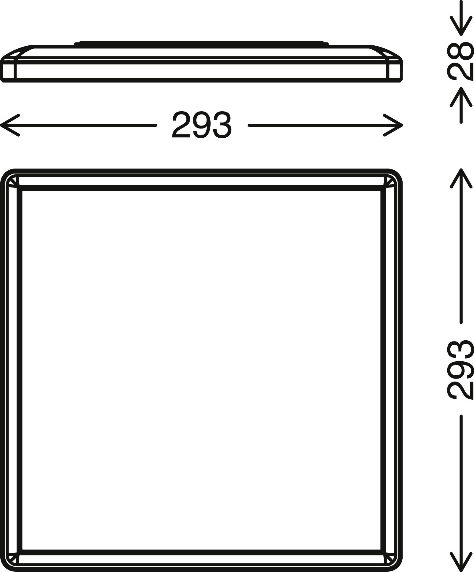 SLIM LED Panel, 29,3 cm, 1850 LUMEN, 15 WATT, Weiss