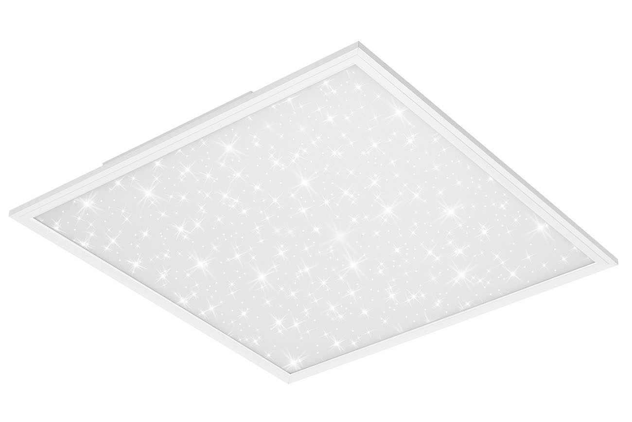 STERNENHIMMEL LED Panel, 59,5 cm, 4100 LUMEN, 38 WATT, Weiss