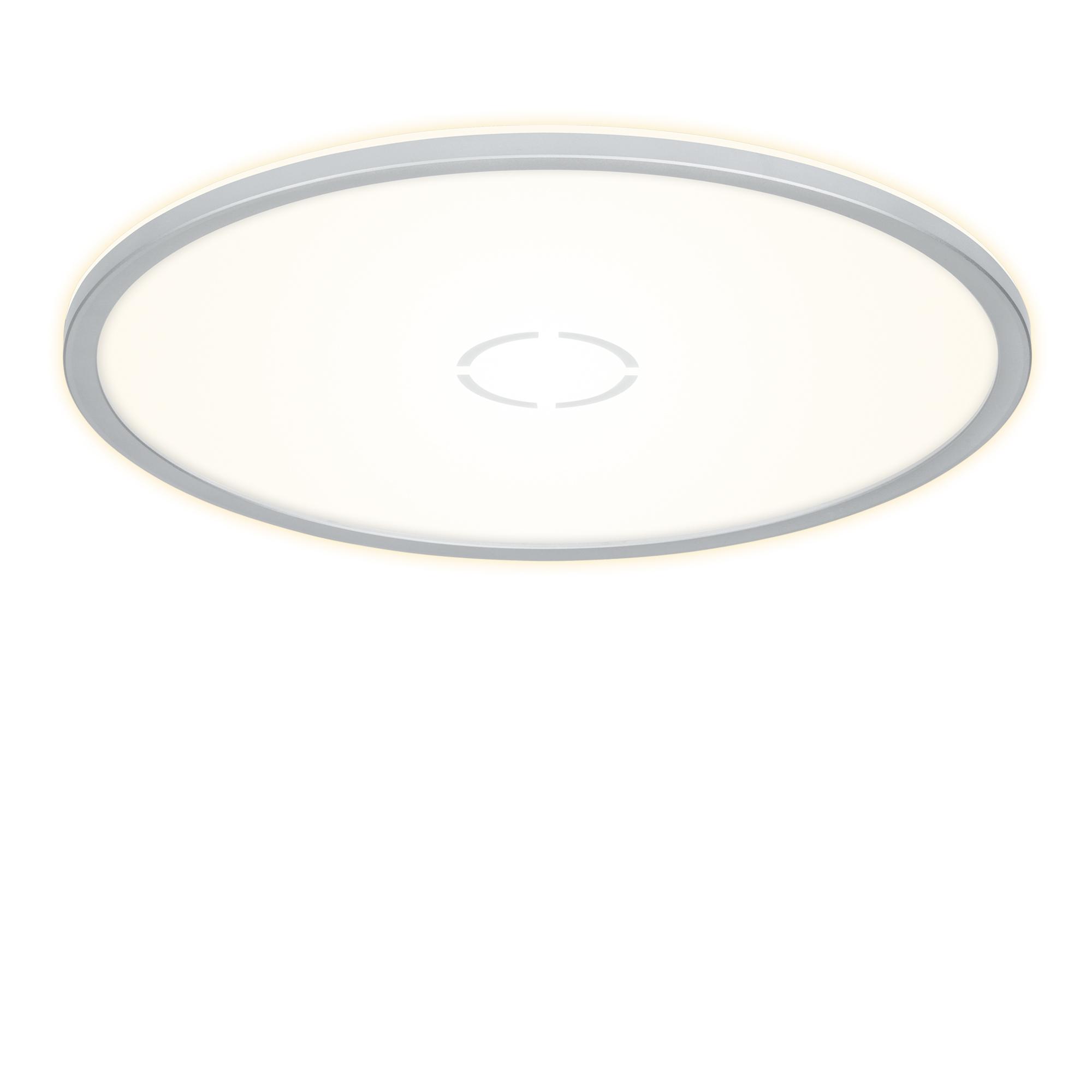 Slim LED Panel, Ø 42 cm, 3000 LUMEN, 22 WATT, Silber