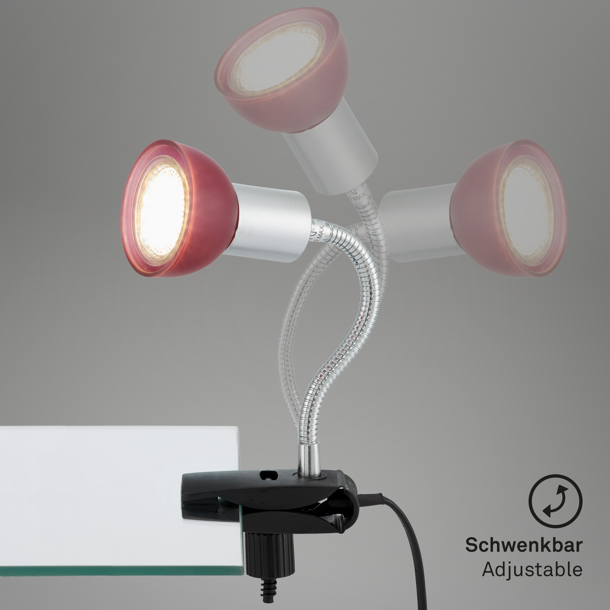 LED Klemmleuchte Titan-Rot