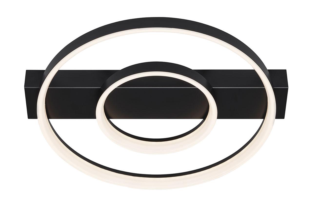 LED Wand- und Deckenleuchte, 43,5 cm, 26 W, Schwarz