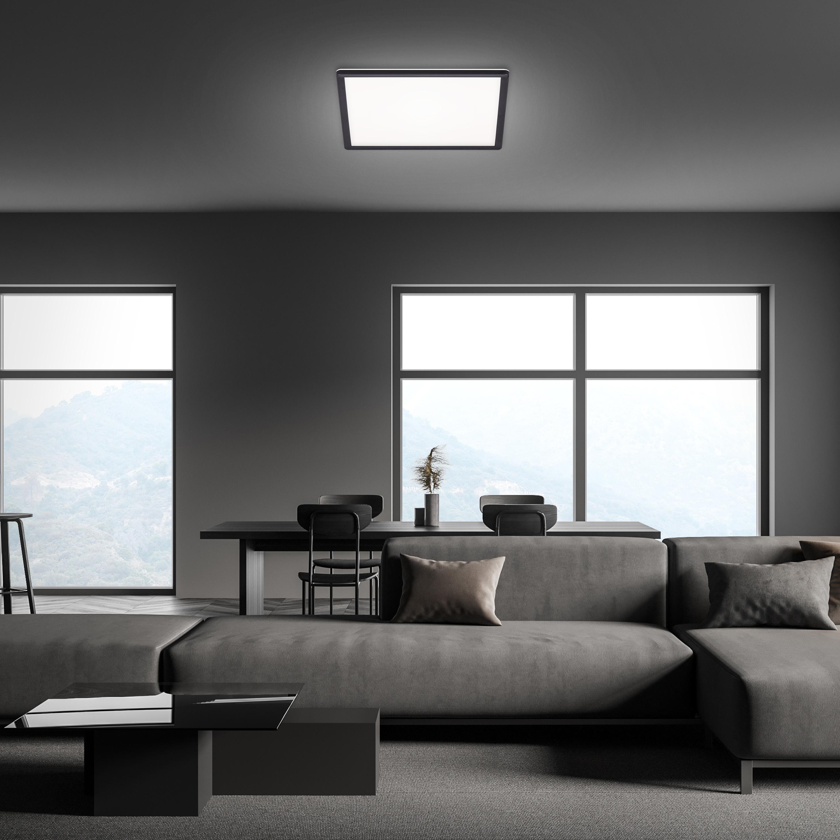SLIM LED Panel, 42 cm, 22 W, Schwarz