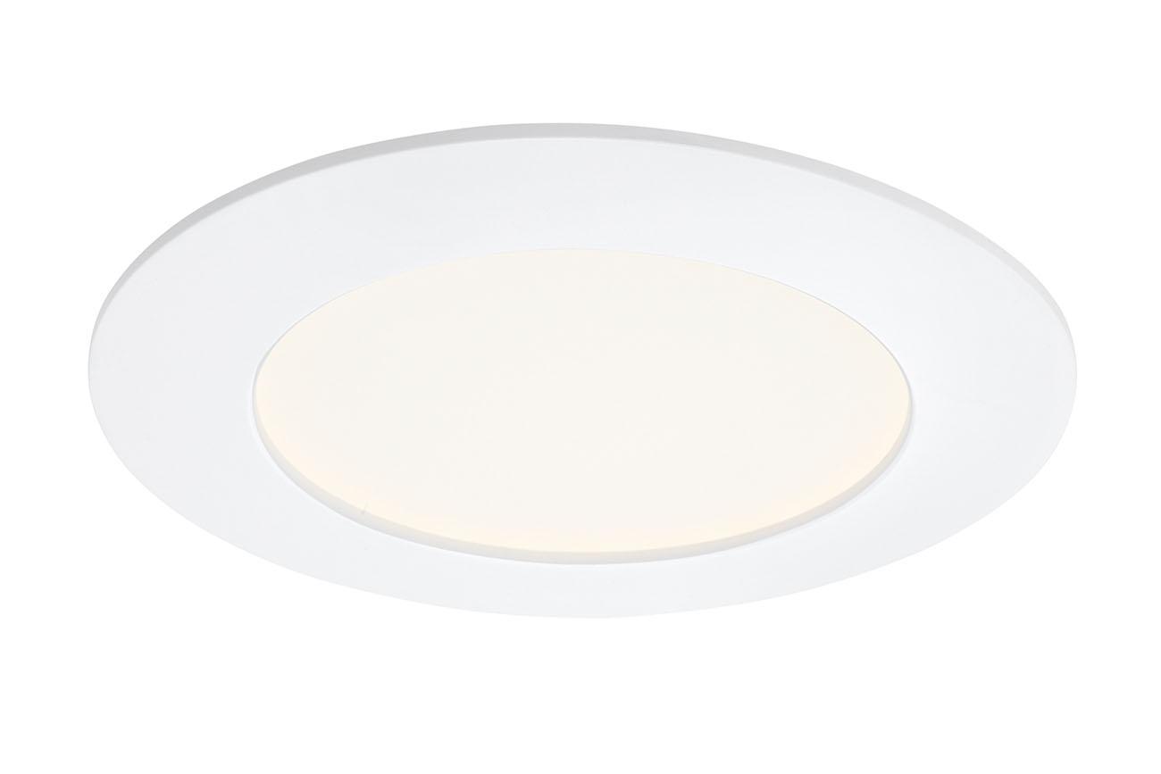 3er Set LED Einbauleuchte, Ø 12 cm, 6,4 W, Weiß