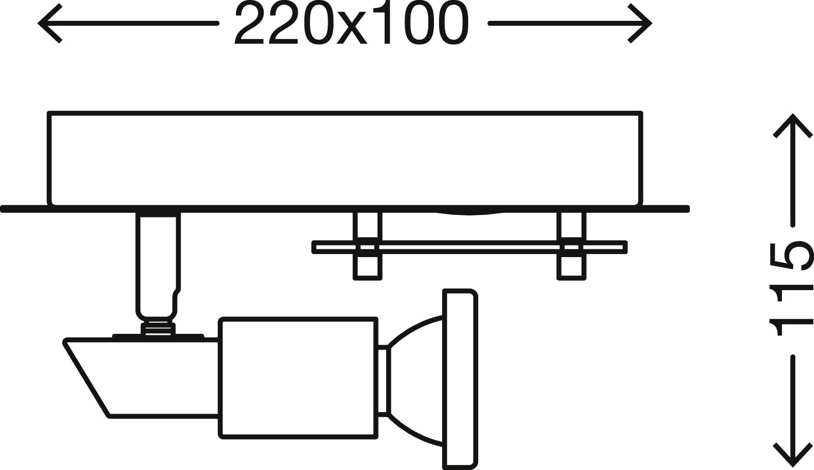 LED Spot Deckenleuchte, 22 cm, 8 W, Matt-Nickel