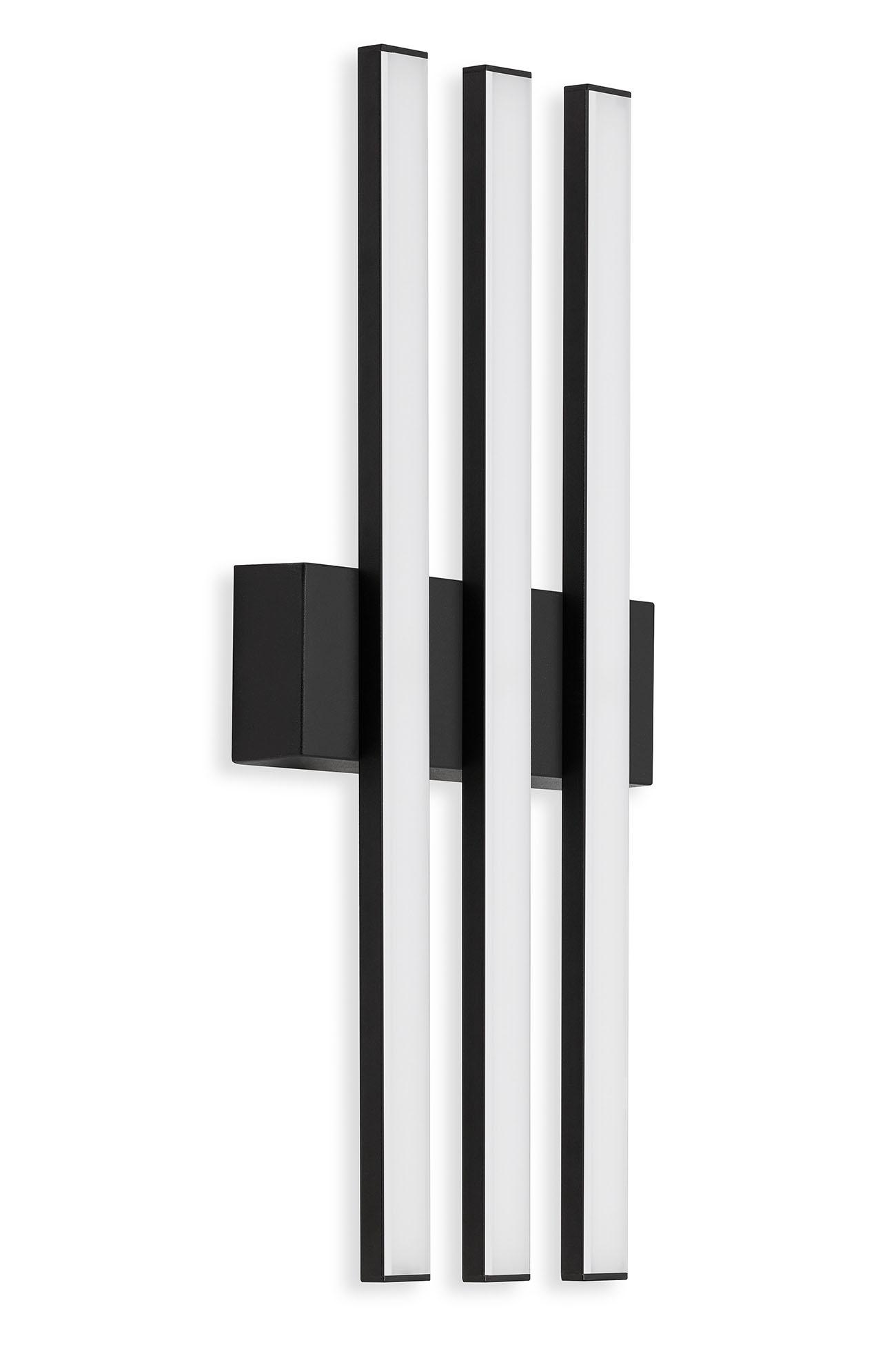 TELEFUNKEN LED Außenwandleuchte, 37 cm, 12 W, Schwarz