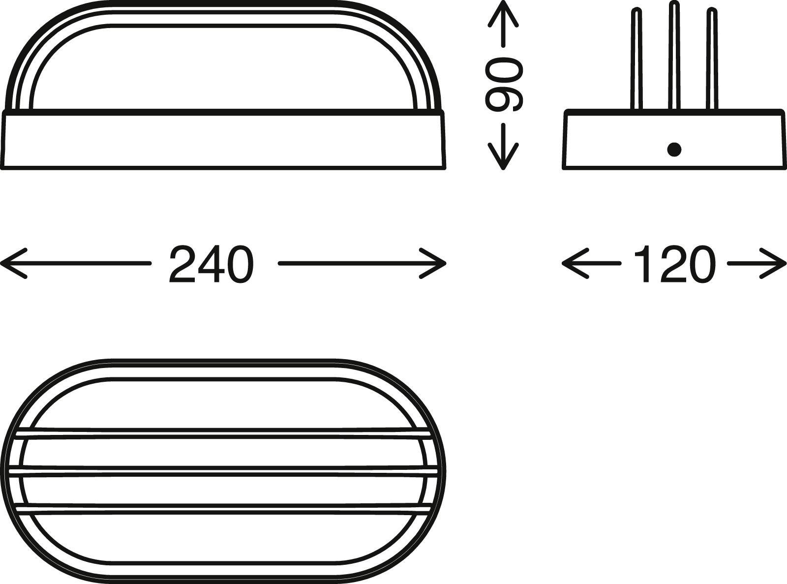 TELEFUNKEN LED Aussenwandleuchte, 24 cm, 12 W, Schwarz