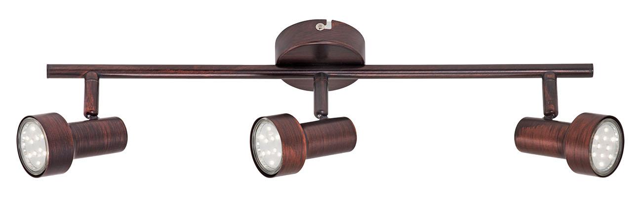 LED Spot Deckenleuchte, 48 cm, 9 W, Kupfer