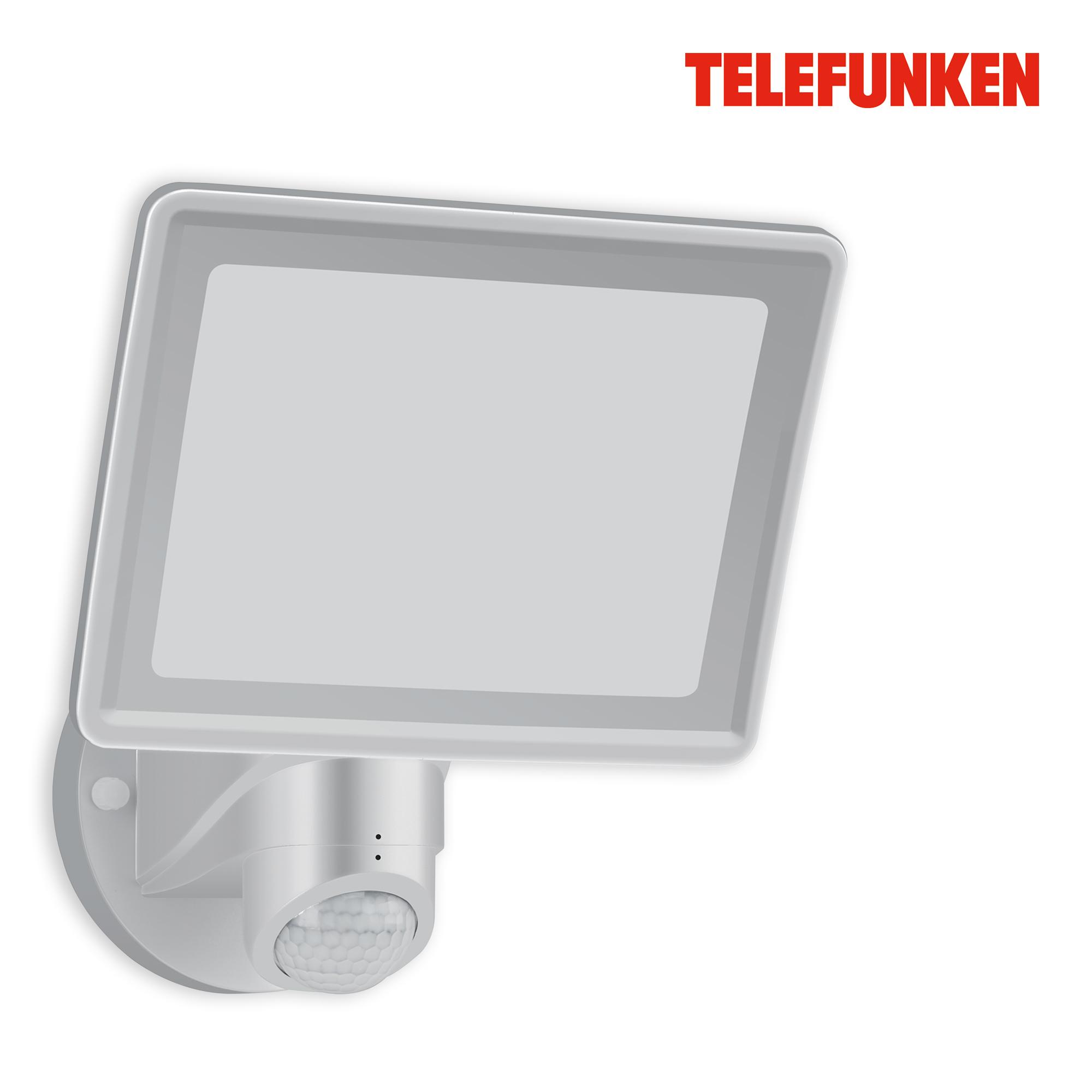 TELEFUNKEN LED Sensor Außenstrahler Silber
