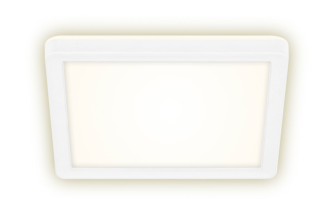SLIM LED Panel, 19 cm, 1400 LUMEN, 12 WATT, Weiss