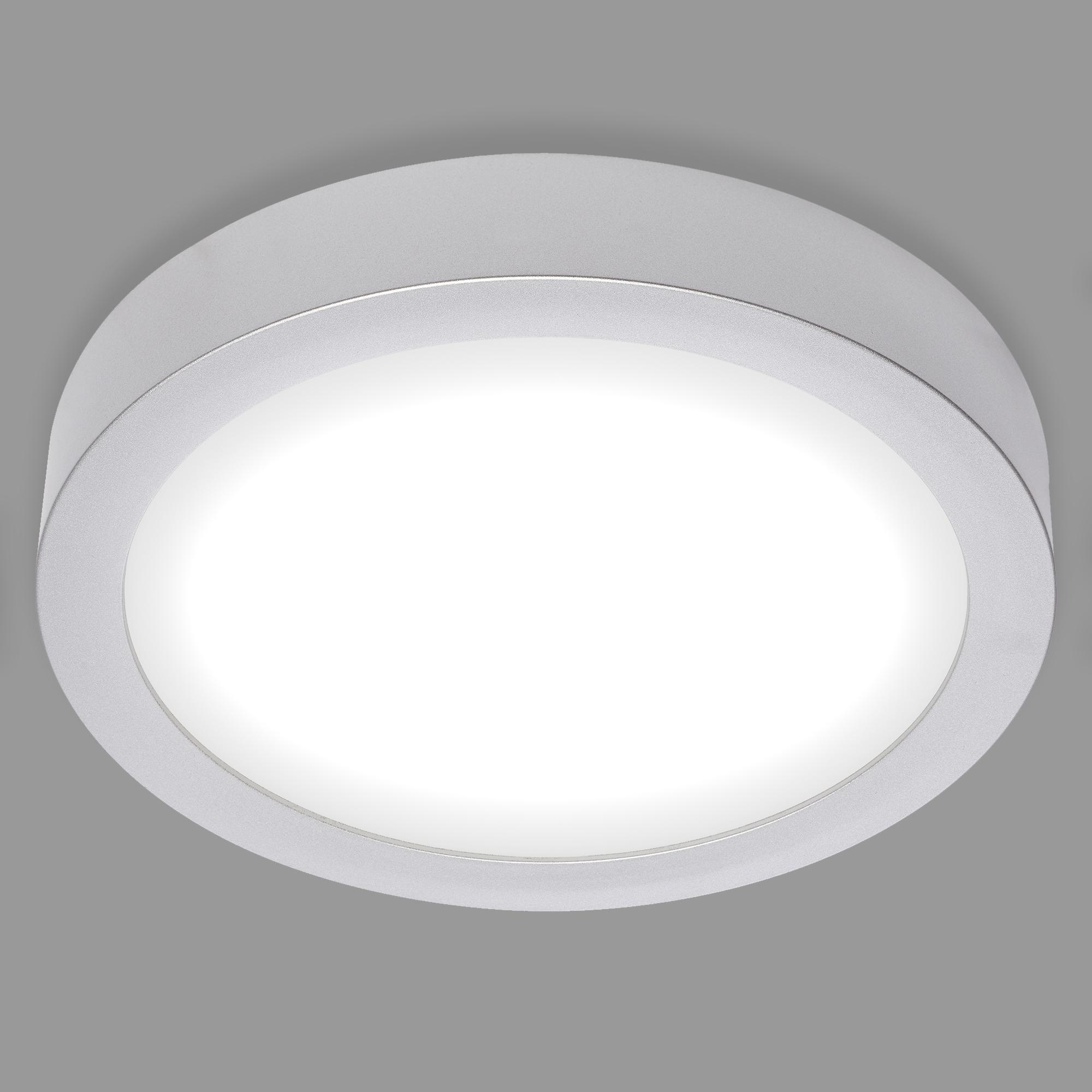LED Deckenleuchte, Ø 22,5 cm, 17 W, Chrom-Matt