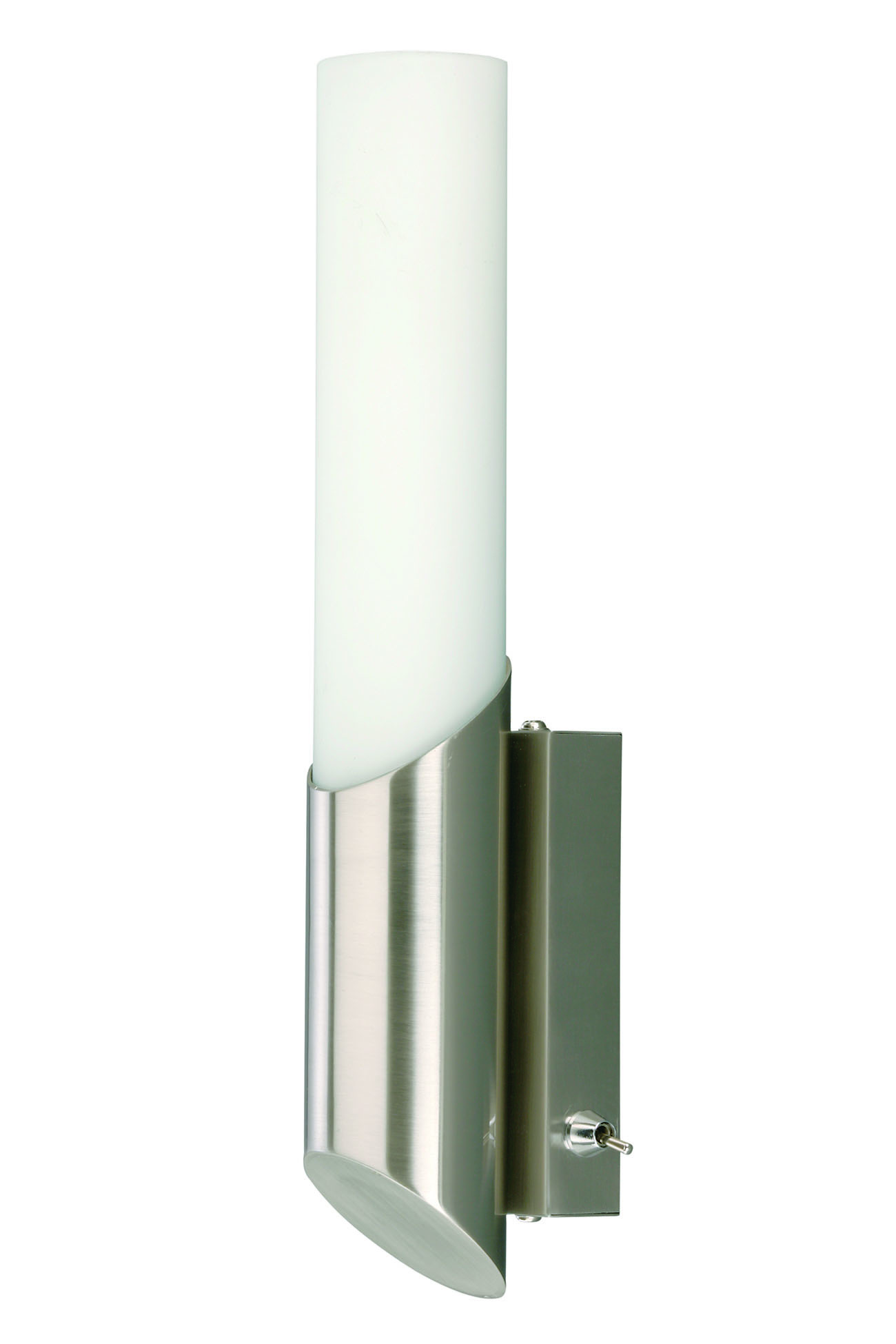Wandleuchte, 30 cm, max. 40 W, Matt-Nickel