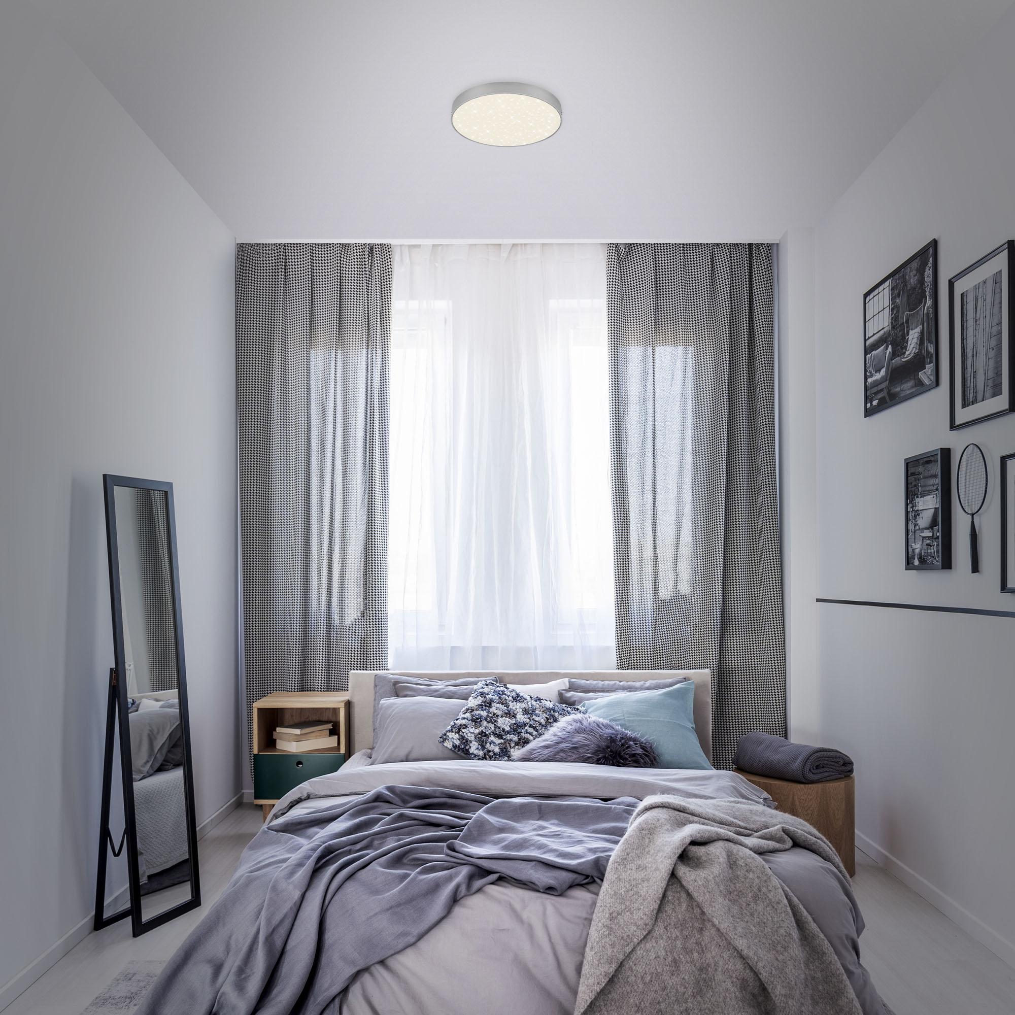 STERNENHIMMEL LED Deckenleuchte, Ø 21,2 cm, 16 W, Silber