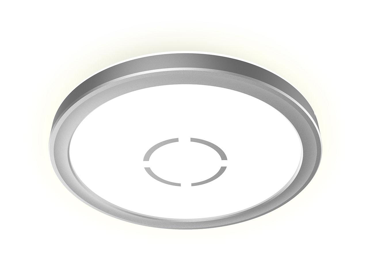 Slim LED Panel, Ø 19 cm, 1400 LUMEN, 12 WATT, Silber