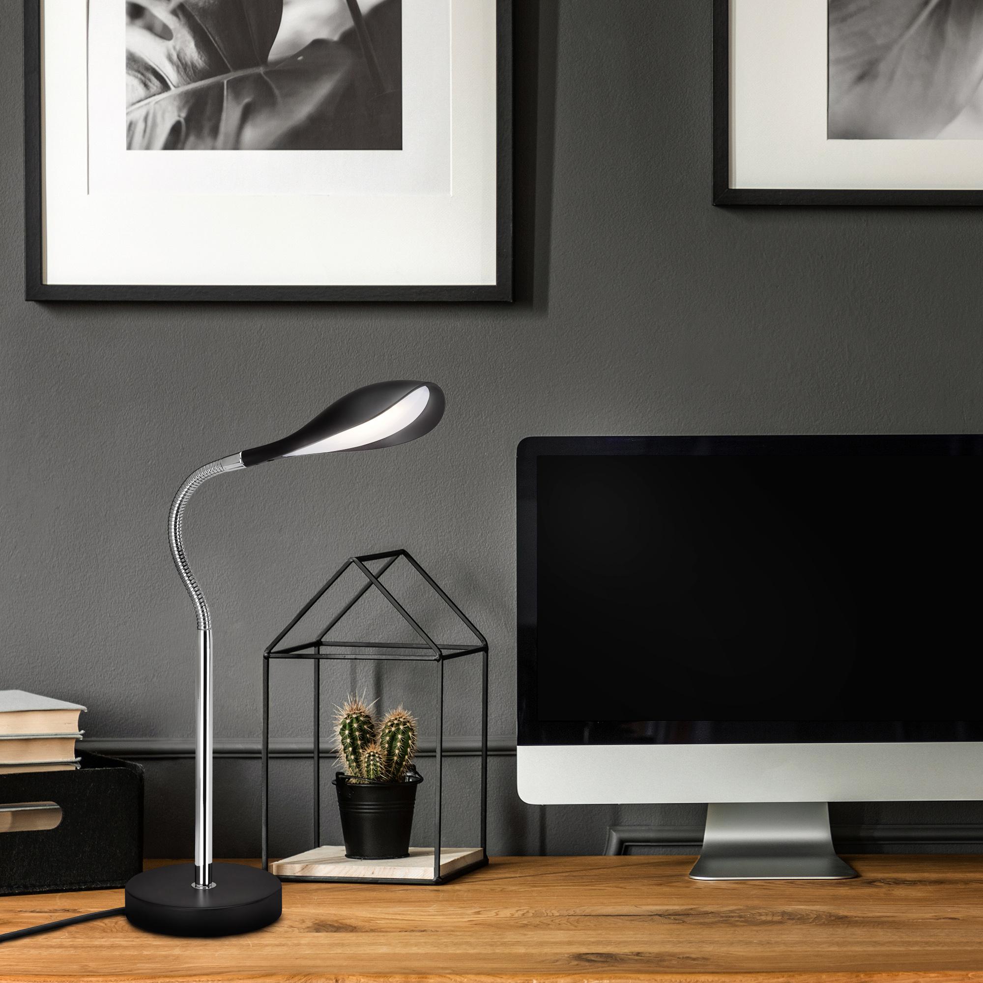 LED Tischleuchte Schwarz