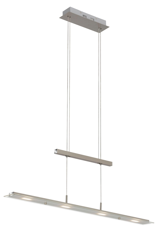 LED Pendelleuchte, 85 cm, 18 W, Matt-Nickel