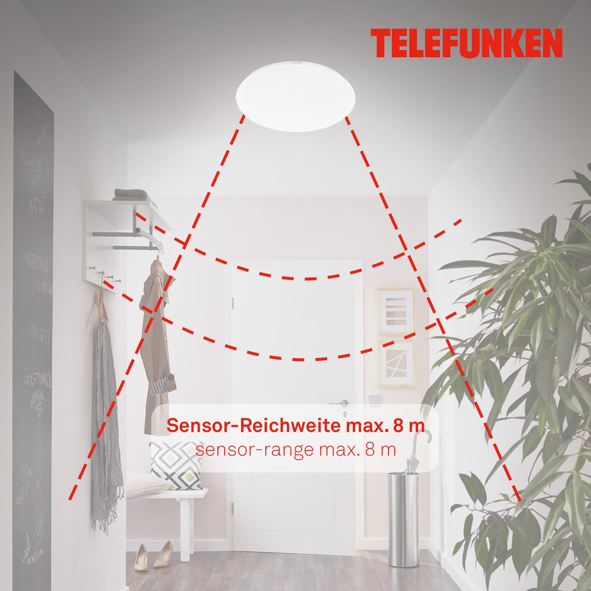 TELEFUNKEN LED Deckenleuchte, Ø 40 cm, 20 W, Weiß