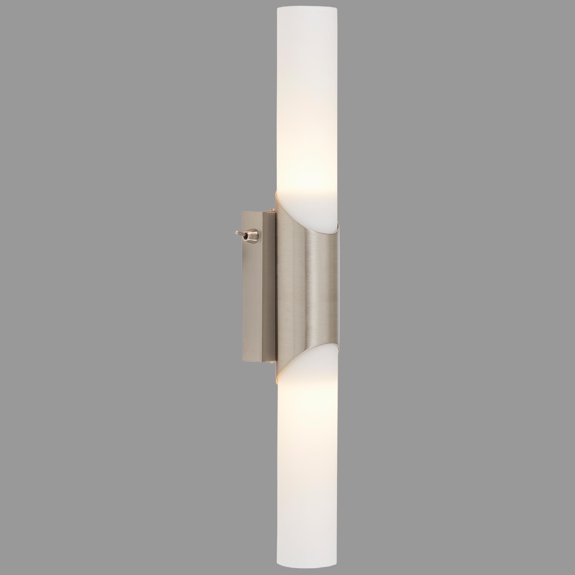 LED Wandleuchte, 43,5 cm, max. 40 W, Matt-Nickel