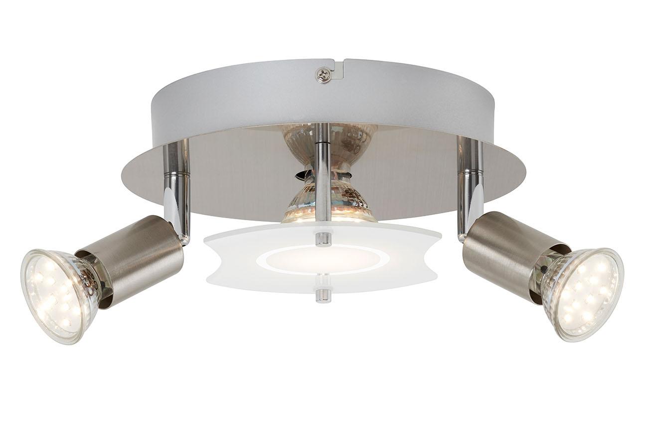 LED Deckenleuchte, Ø 20 cm, 9 W, Matt-Nickel