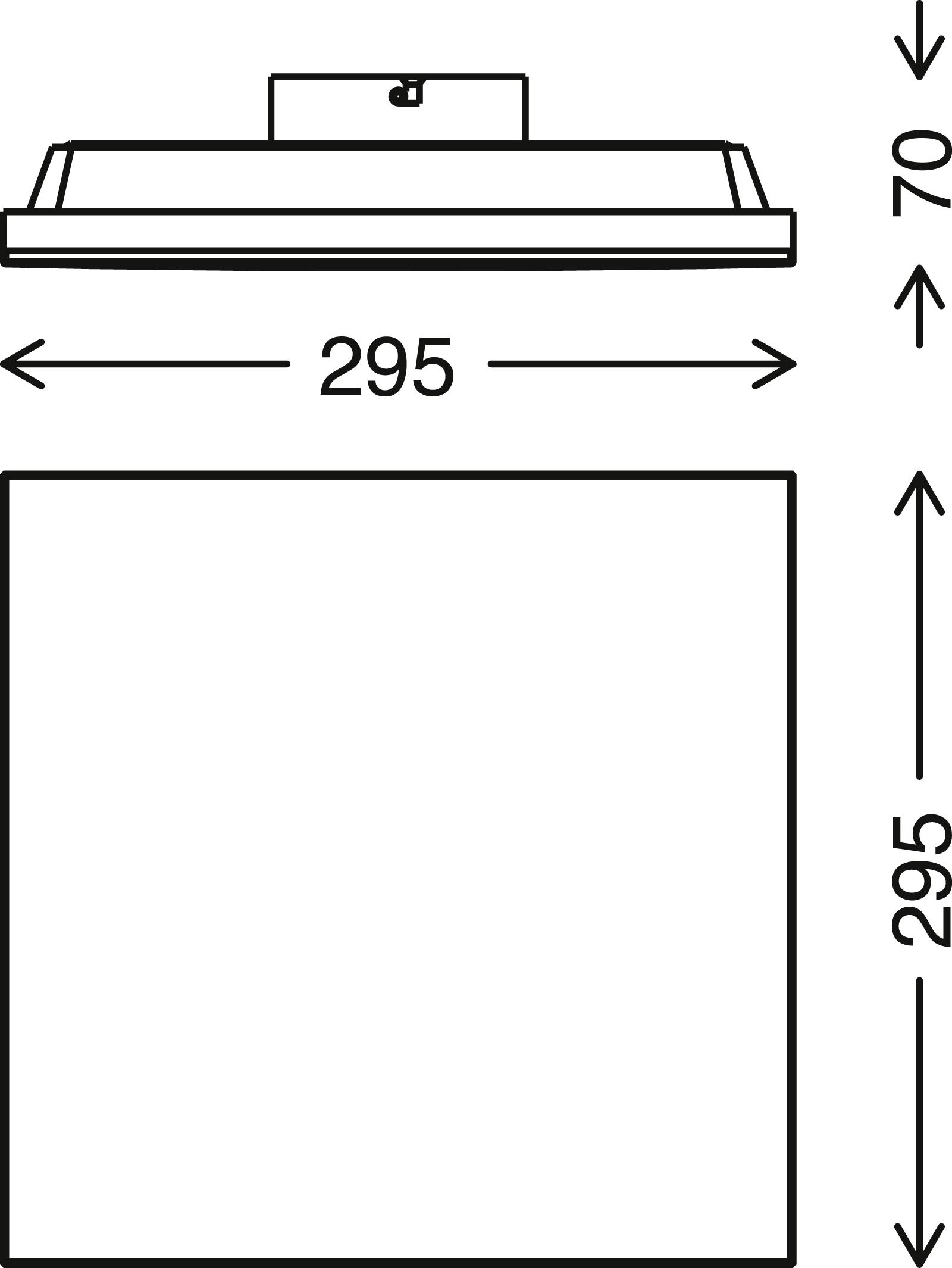 FRAMELESS LED Panel, 29,5 cm, 1600 LUMEN, 12 WATT, Weiß