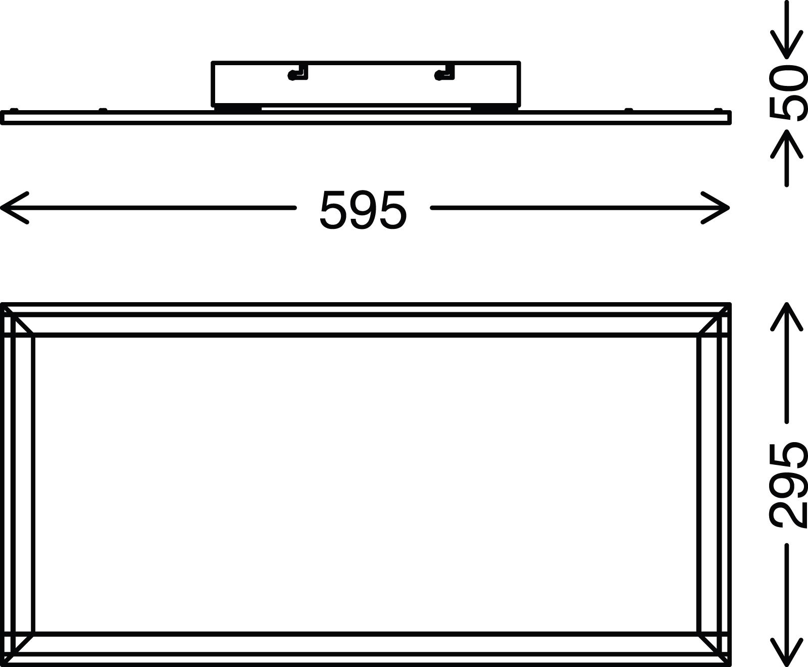 TELEFUNKEN CCT LED Panel, 59,5 cm, 36 W, Weiß