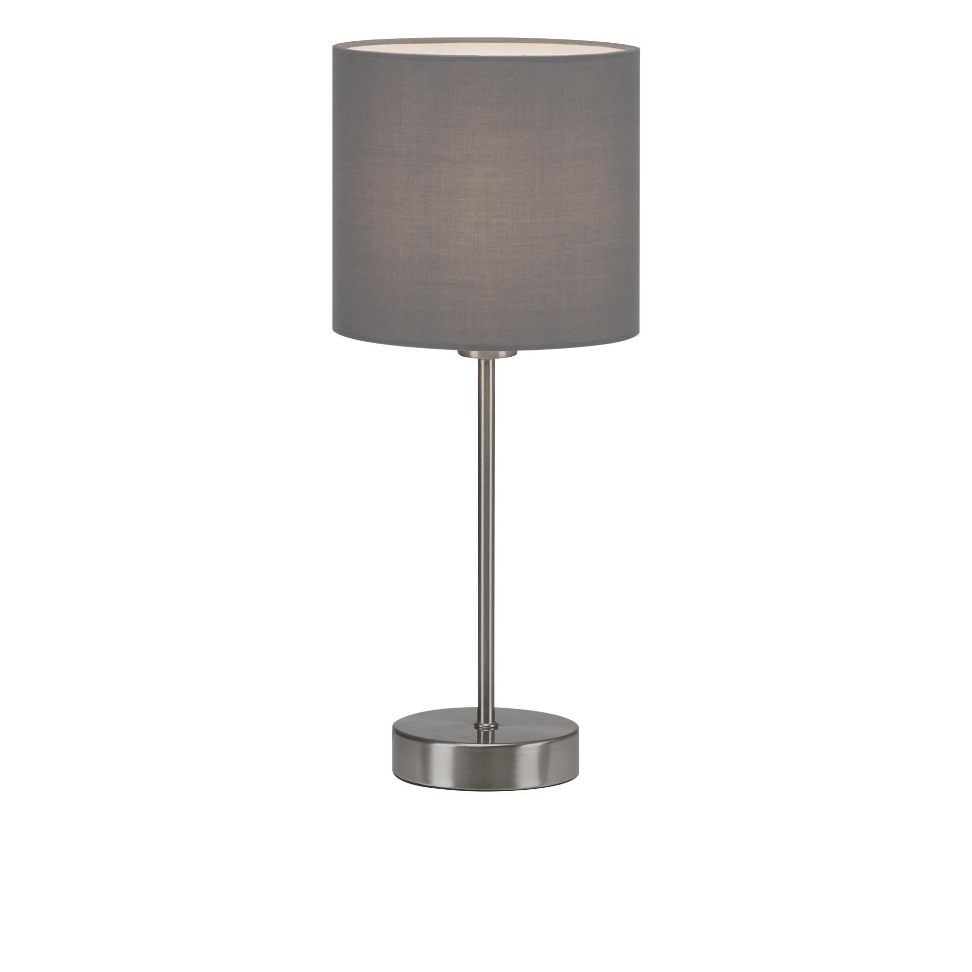Tischleuchte, max. 25 W, 38,5 cm, Grau