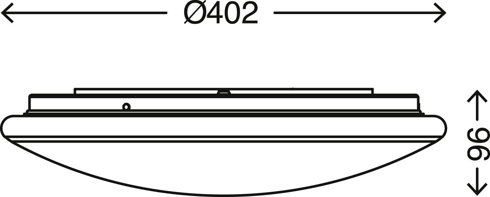 TELEFUNKEN Sensor LED Deckenleuchte, Ø 40,2 cm, 20 W, Weiß