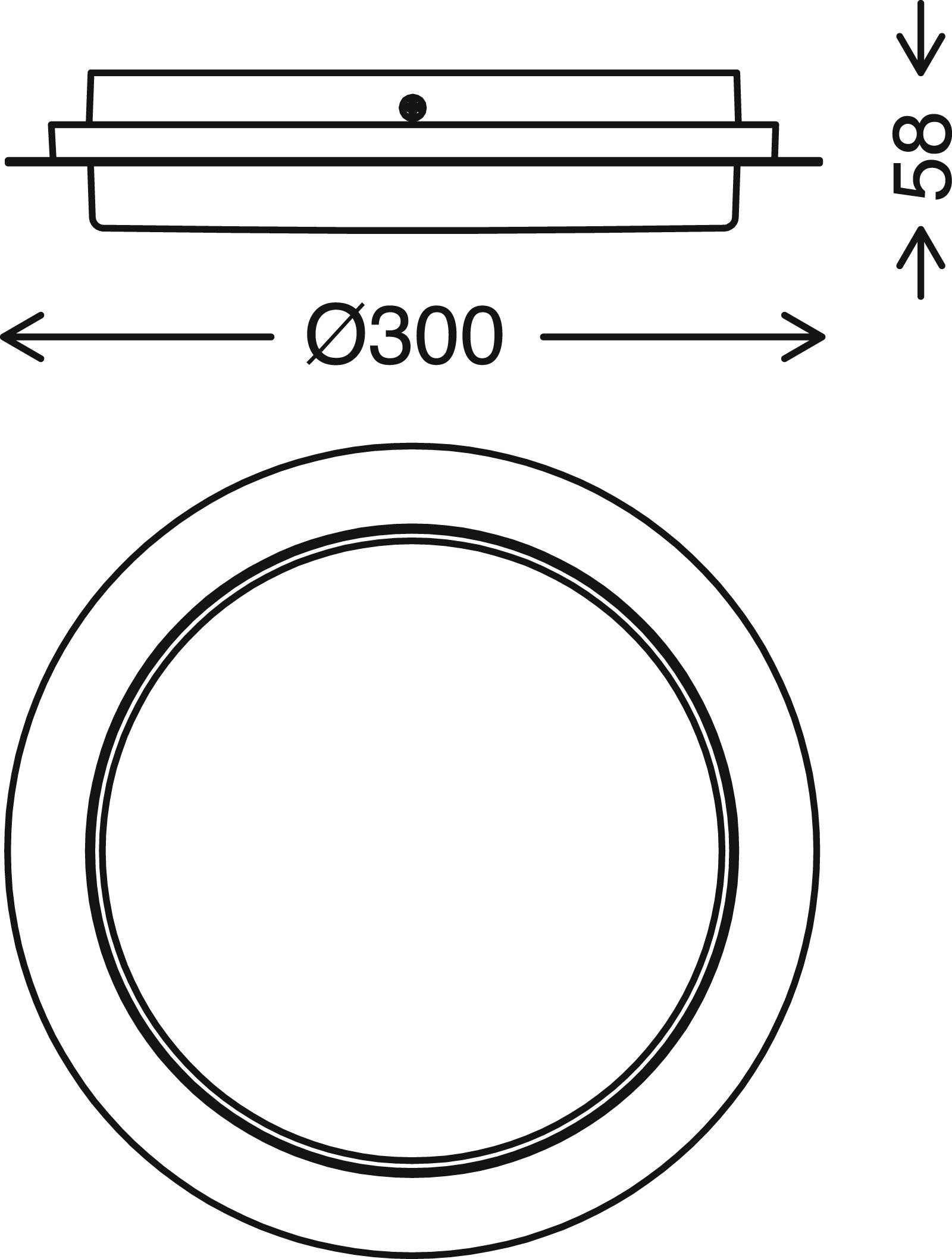 TELEFUNKEN LED Aussenwandleuchte, Ø 30 cm, 15 W, Schwarz