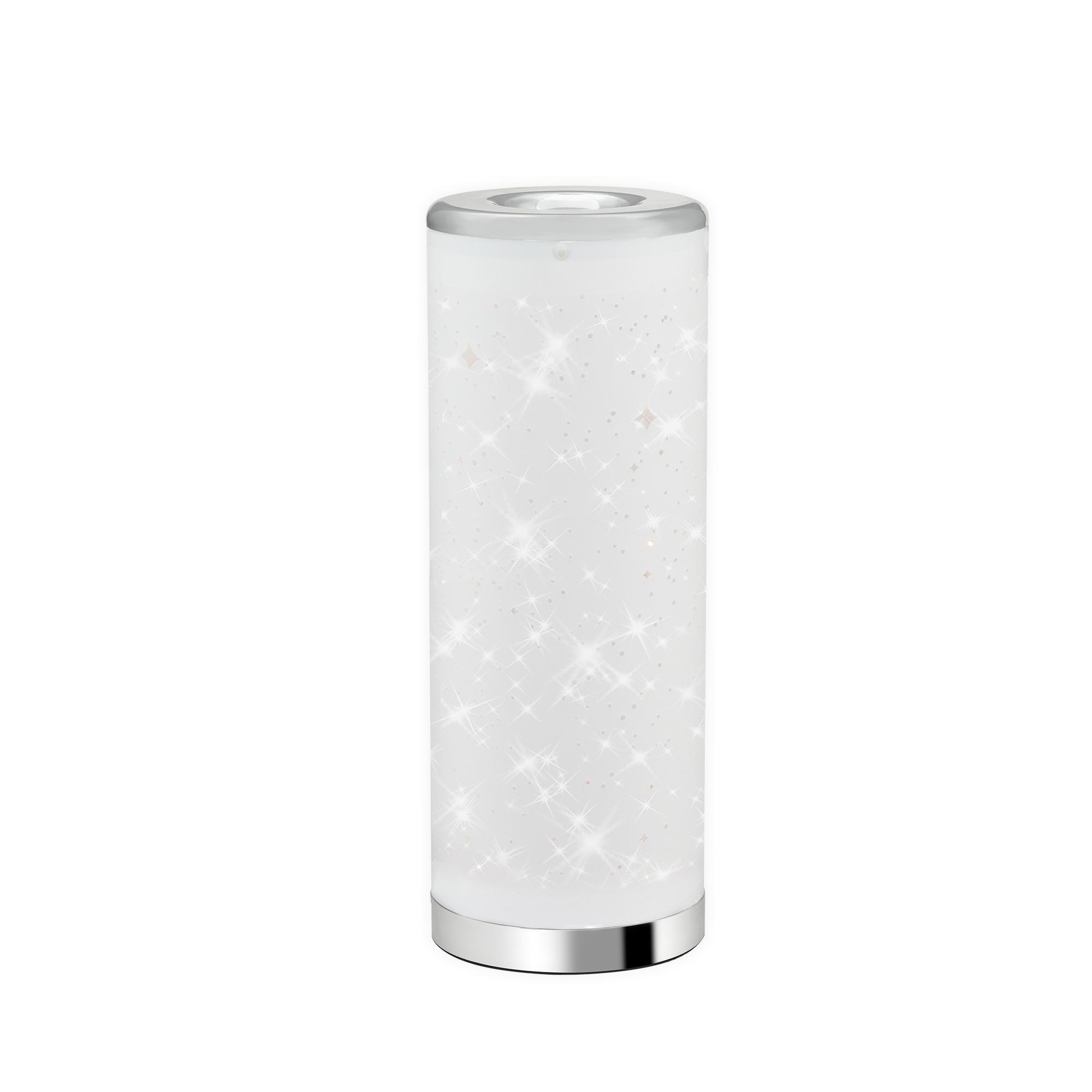 STERNENHIMMEL LED Tischleuchte Weiß-Chrom