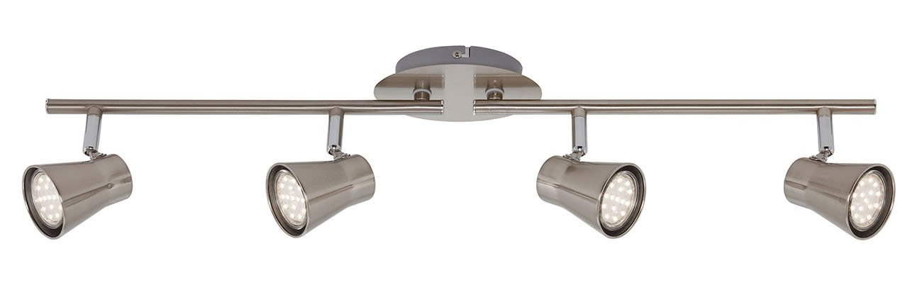 LED Spot Deckenleuchte, 68,5 cm, 12 W, Matt-Nickel