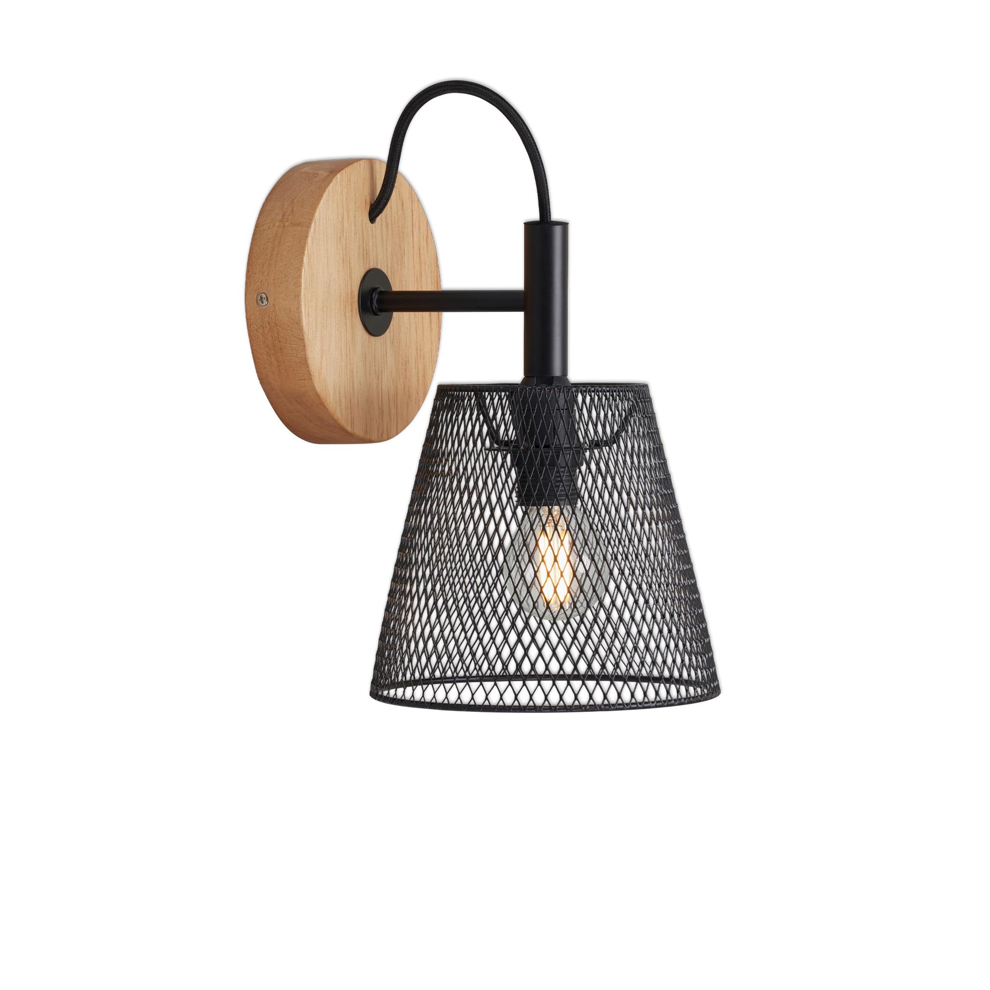 LED Spot Wand- und Deckenleuchte, Ø 12,5 cm, max. 25 W, Schwarz