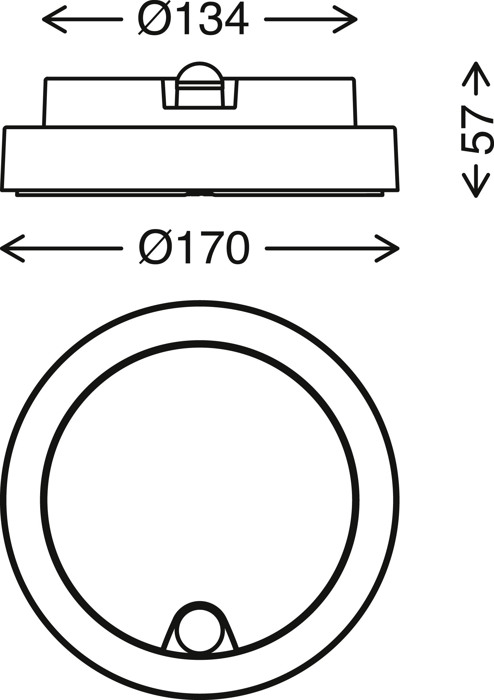 TELEFUNKEN LED Sensor Außenwandleuchte, Ø 17 cm, 12 W, Silber