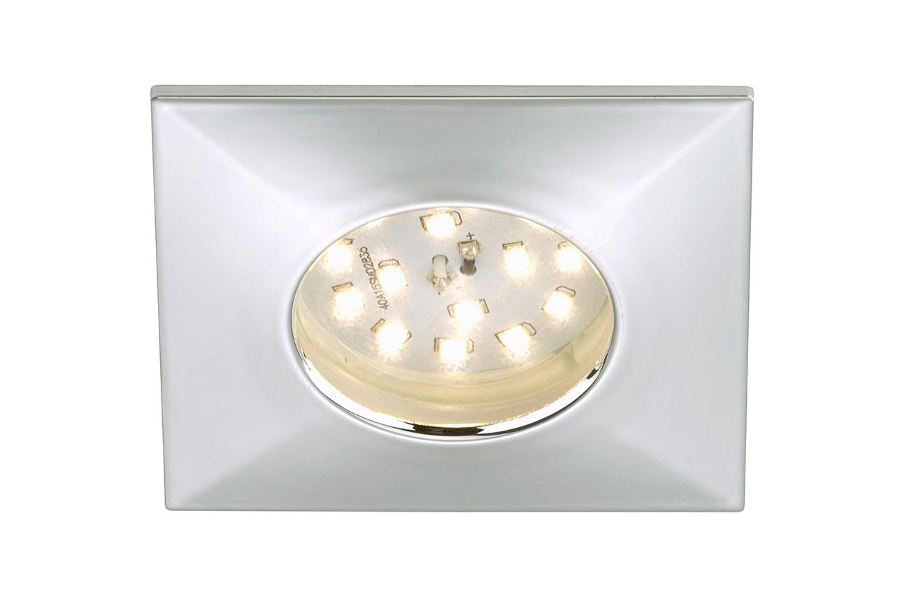 LED Einbauleuchte, 7,5 cm, 5 W, Chrom