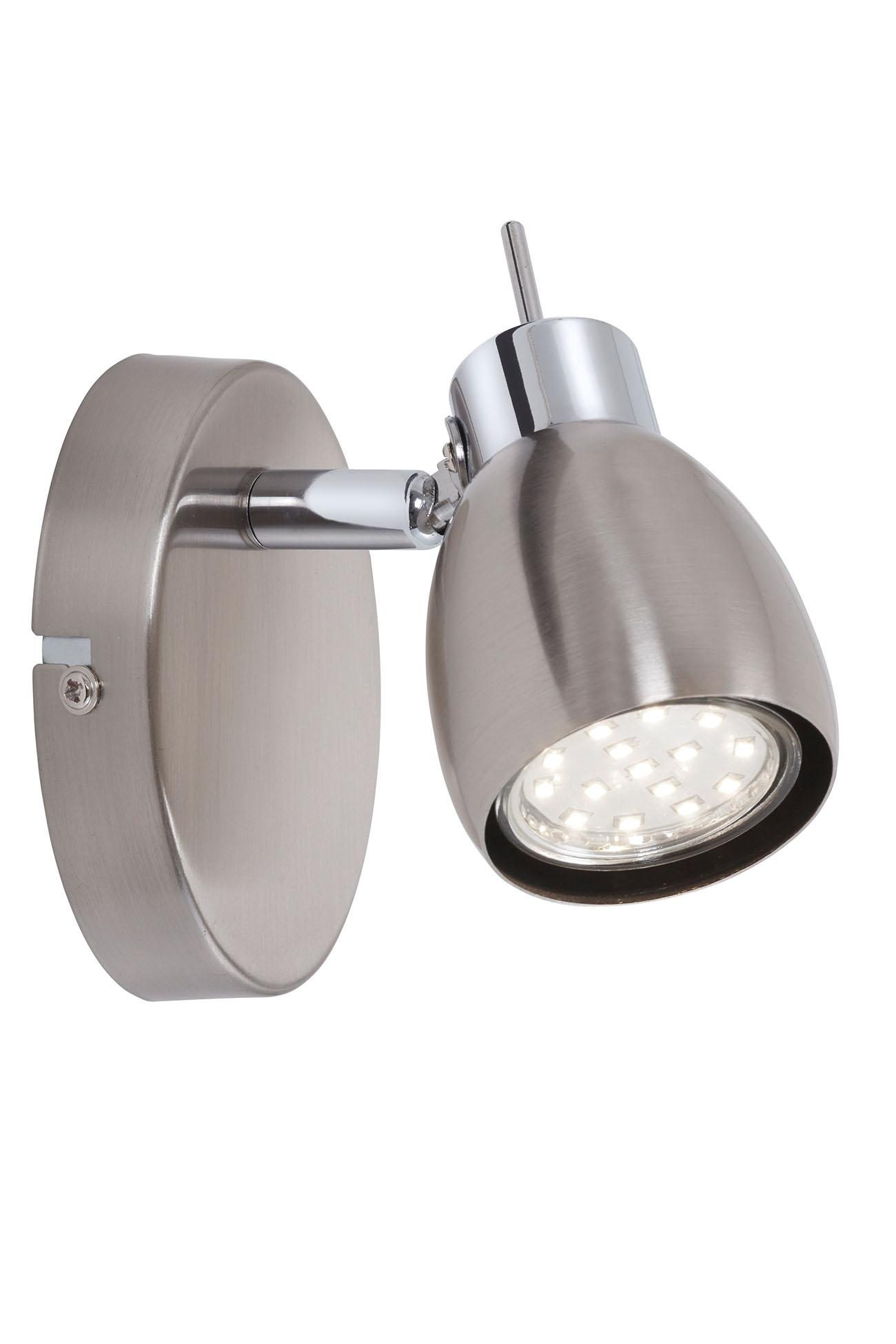 LED Spot Wandleuchte, 10,5 cm, 3 W, Matt-Nickel