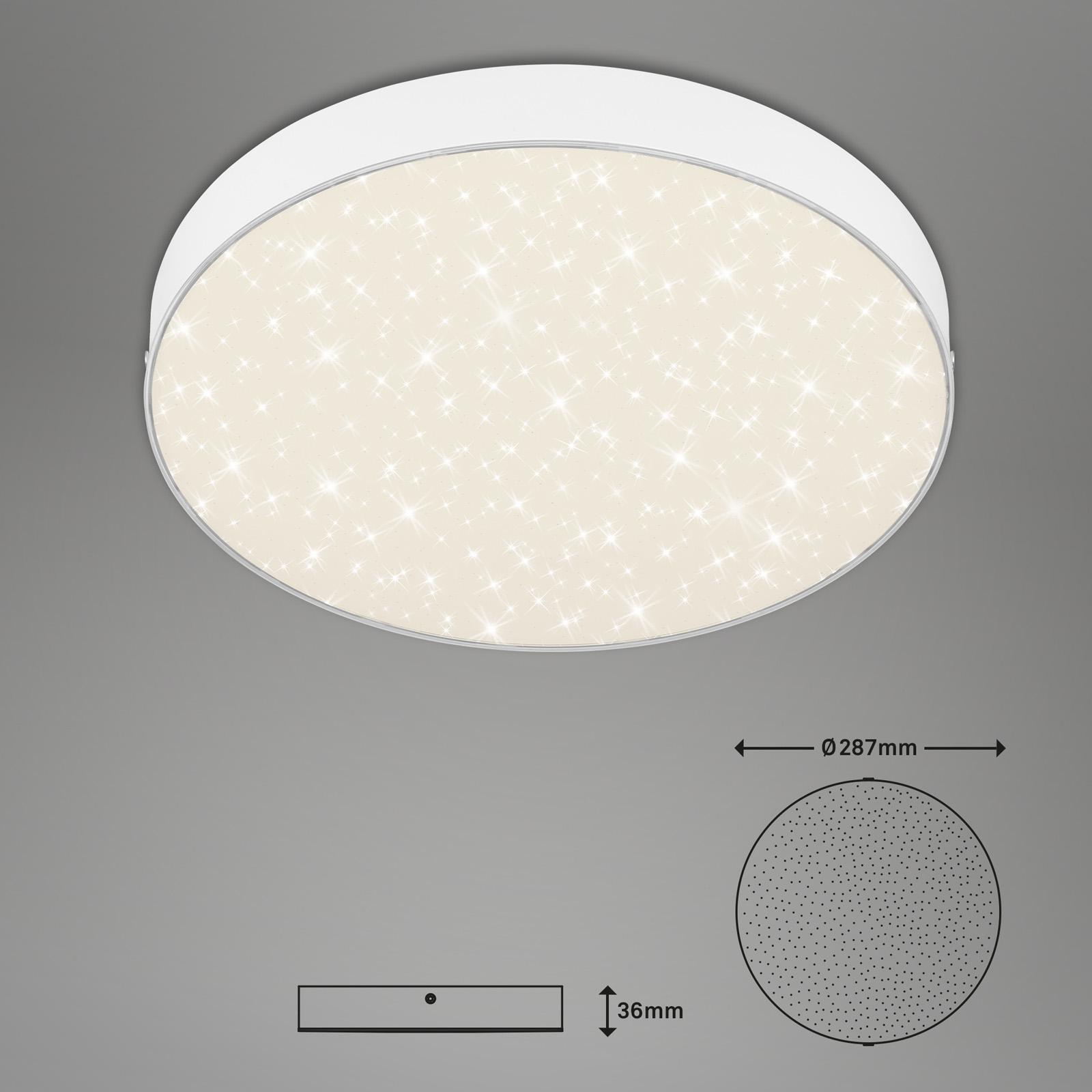 Sternenhimmel LED Deckenleuchte weiß Abmessung