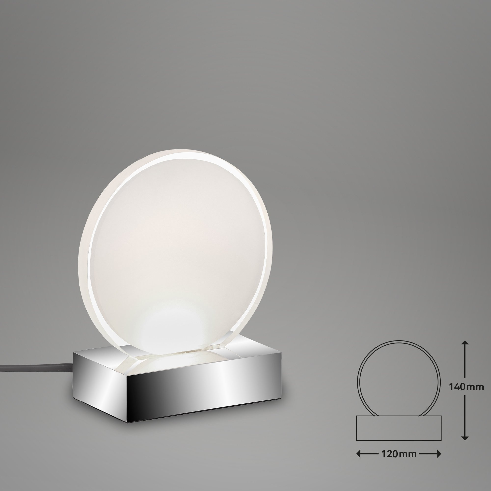 LED Tischleuchte Chrom