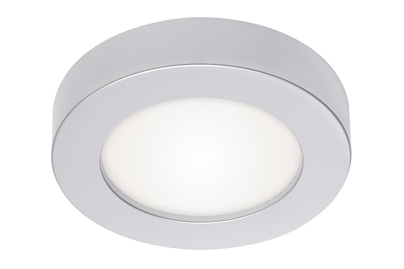 2in1 LED Auf- und Einbauleuchte, Ø 17 cm, 12 W, Chrom-Matt