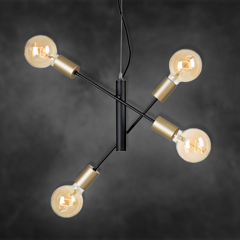 Moderne LED Pendelleuchte in Vintage Design