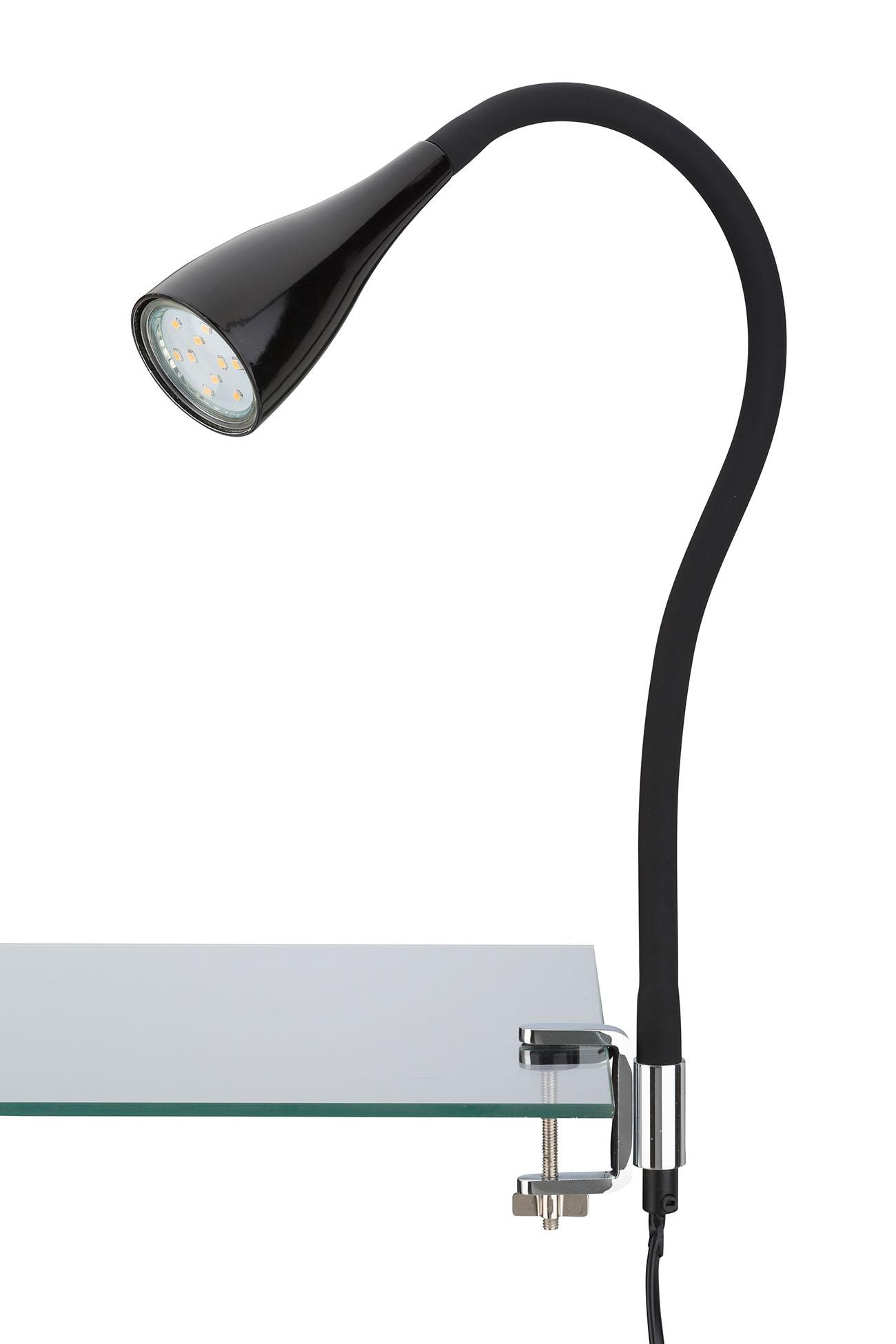 LED Klemmleuchte, 5,5 cm, 3 W, Schwarz