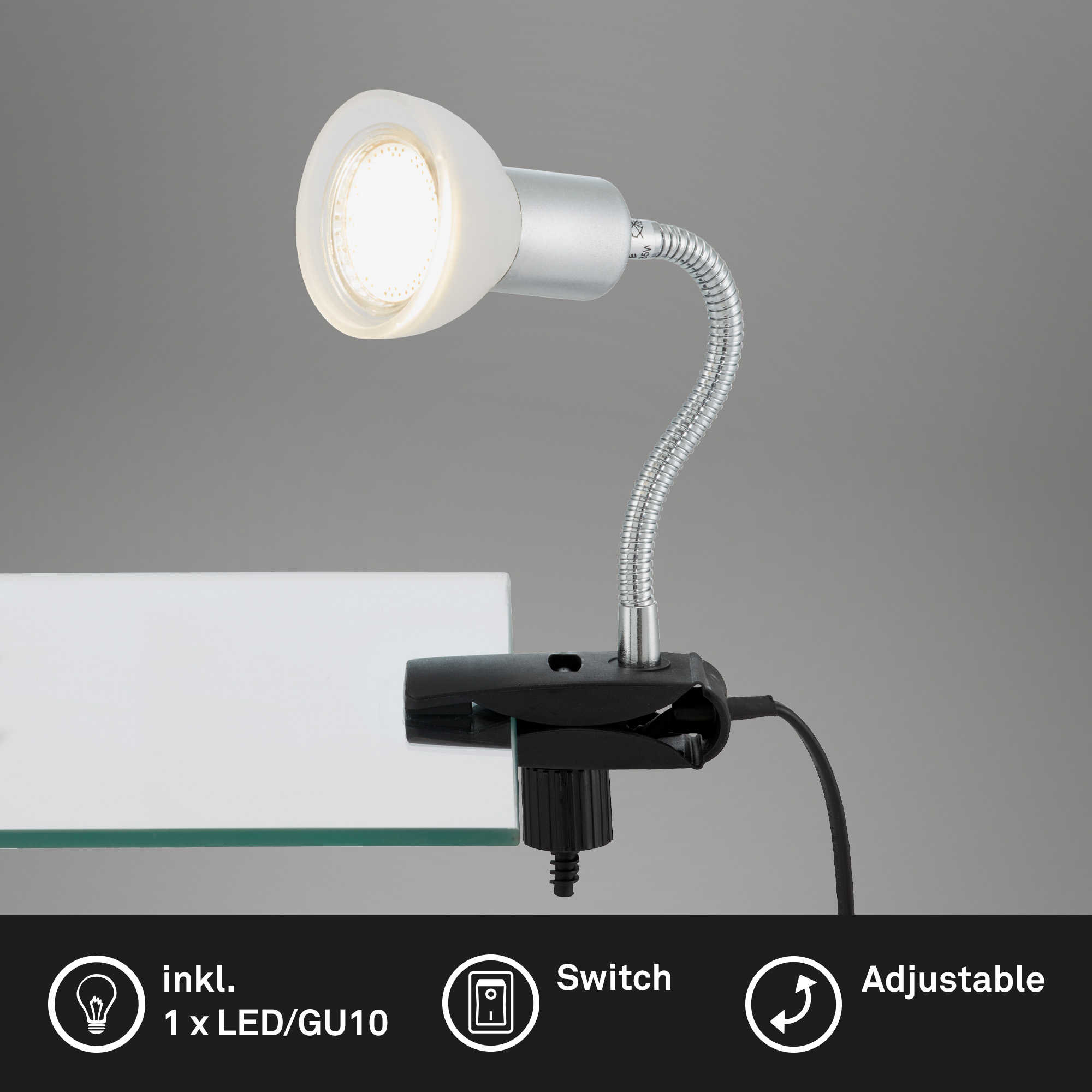 LED Klemmleuchte Titan-Weiß