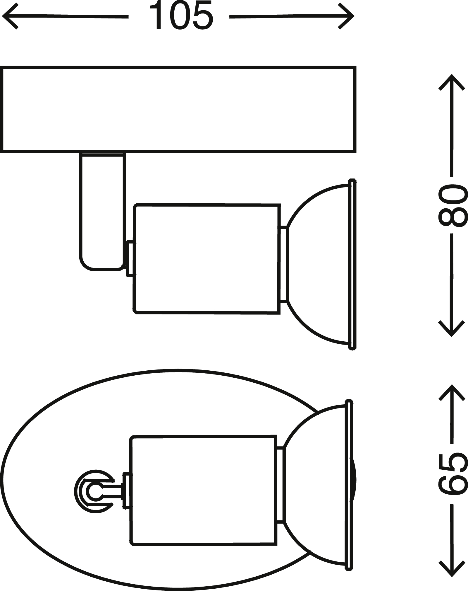 LED Spot Wandleuchte, 10,5 cm, 3 W, Weiß