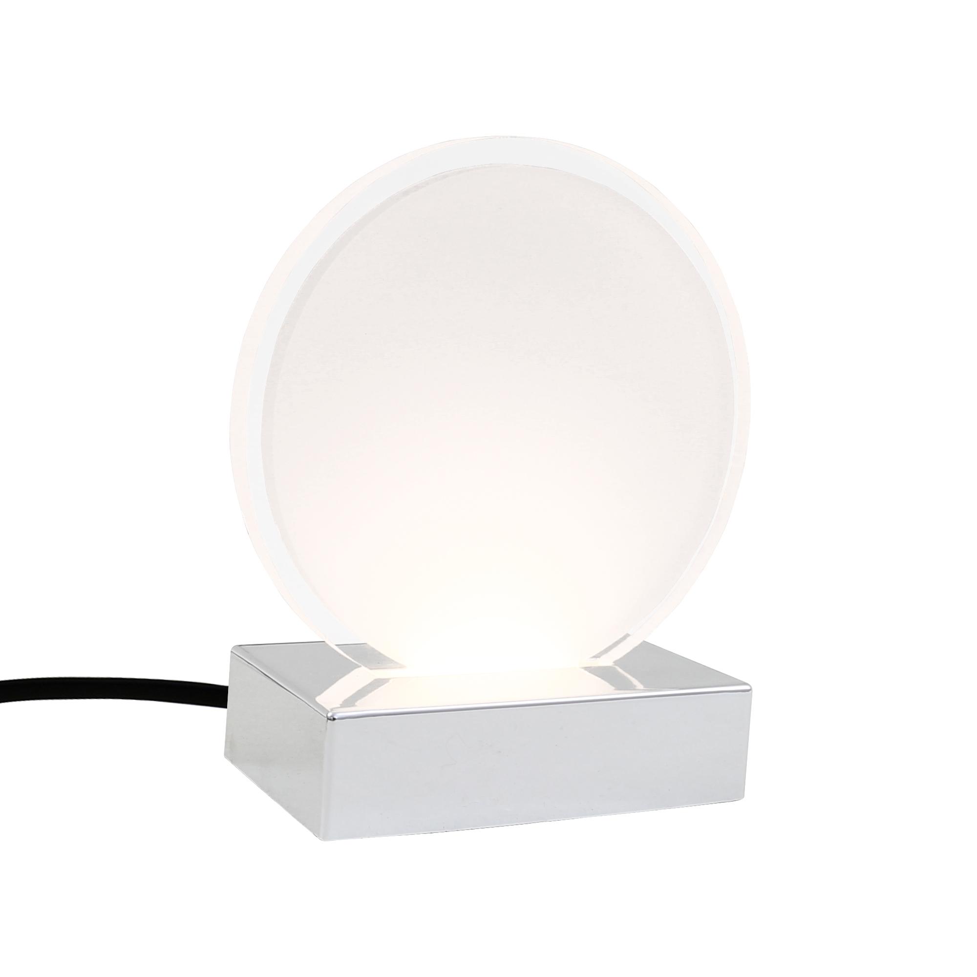LED Tischleuchte, 14 cm, 3 W, Chrom
