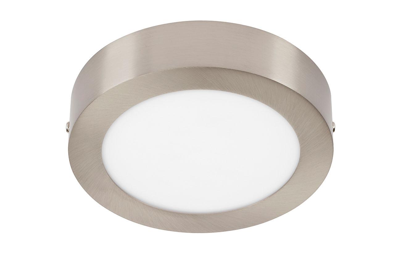 TELEFUNKEN Smart LED Aufbauleuchte, Ø 17 cm, 12W, Matt-Nickel