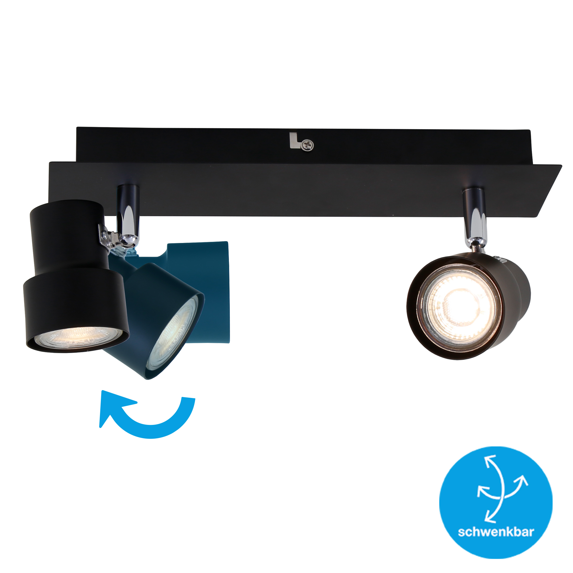 LED Spot Deckenleuchte Schwarz