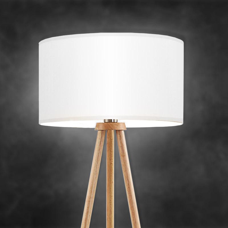 Moderne LED Stehleuchte aus Holz