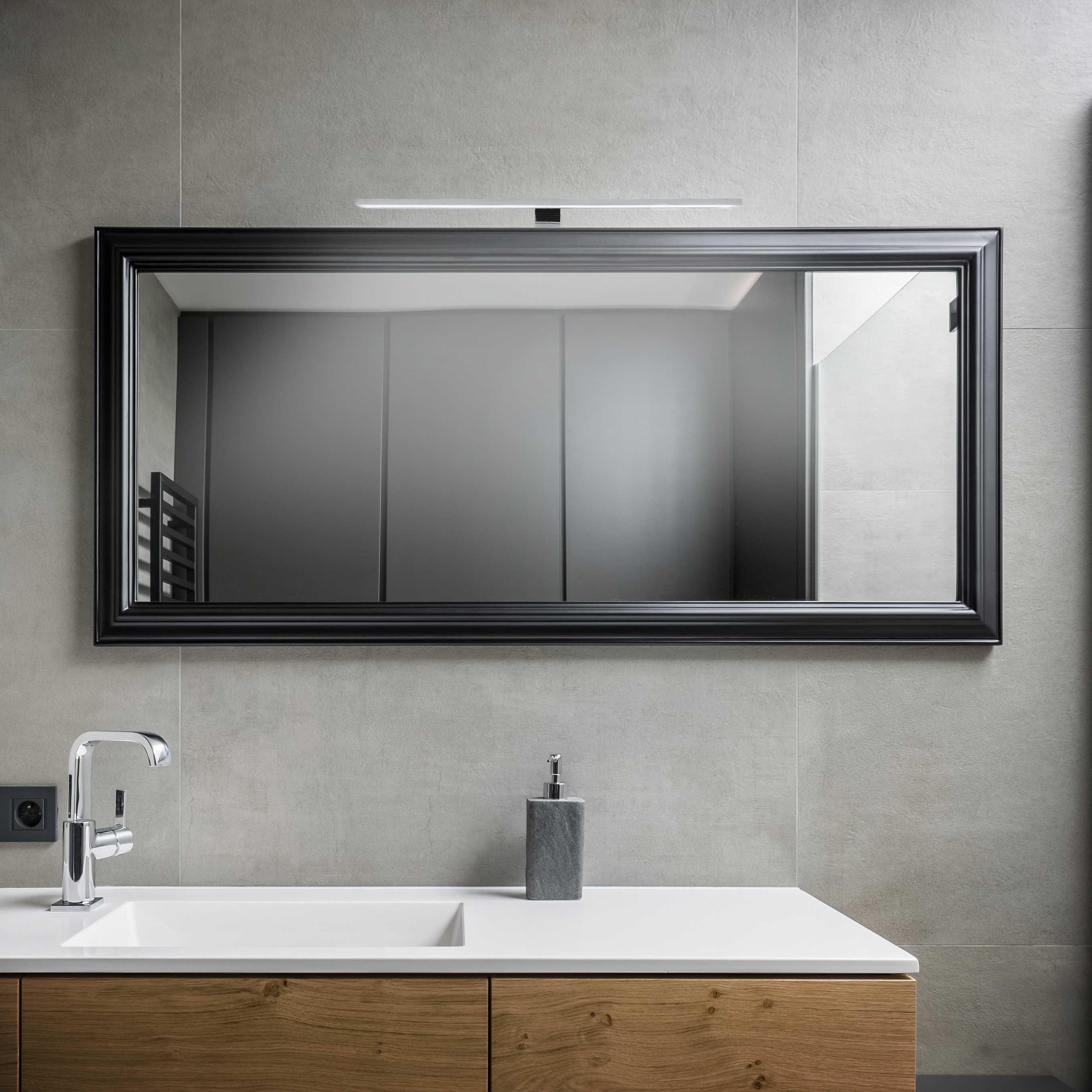 LED Spiegelleuchte, 60 cm, 8 W, Chrom