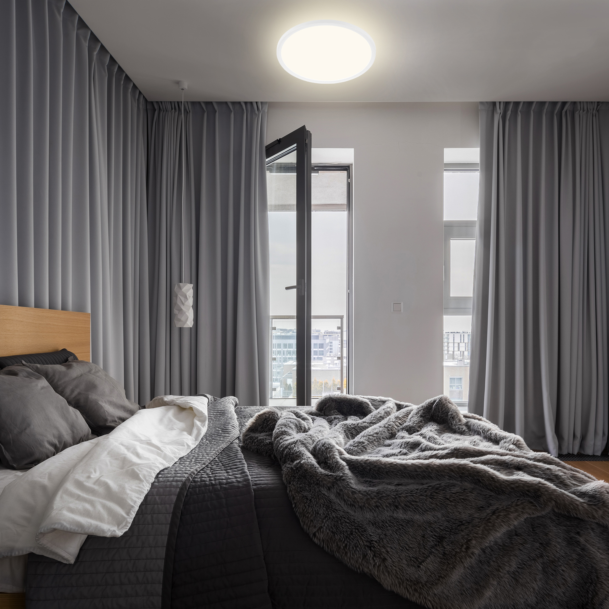 SLIM LED Panel, Ø 29,3cm, 2400 LUMEN, 18 WATT, Weiß