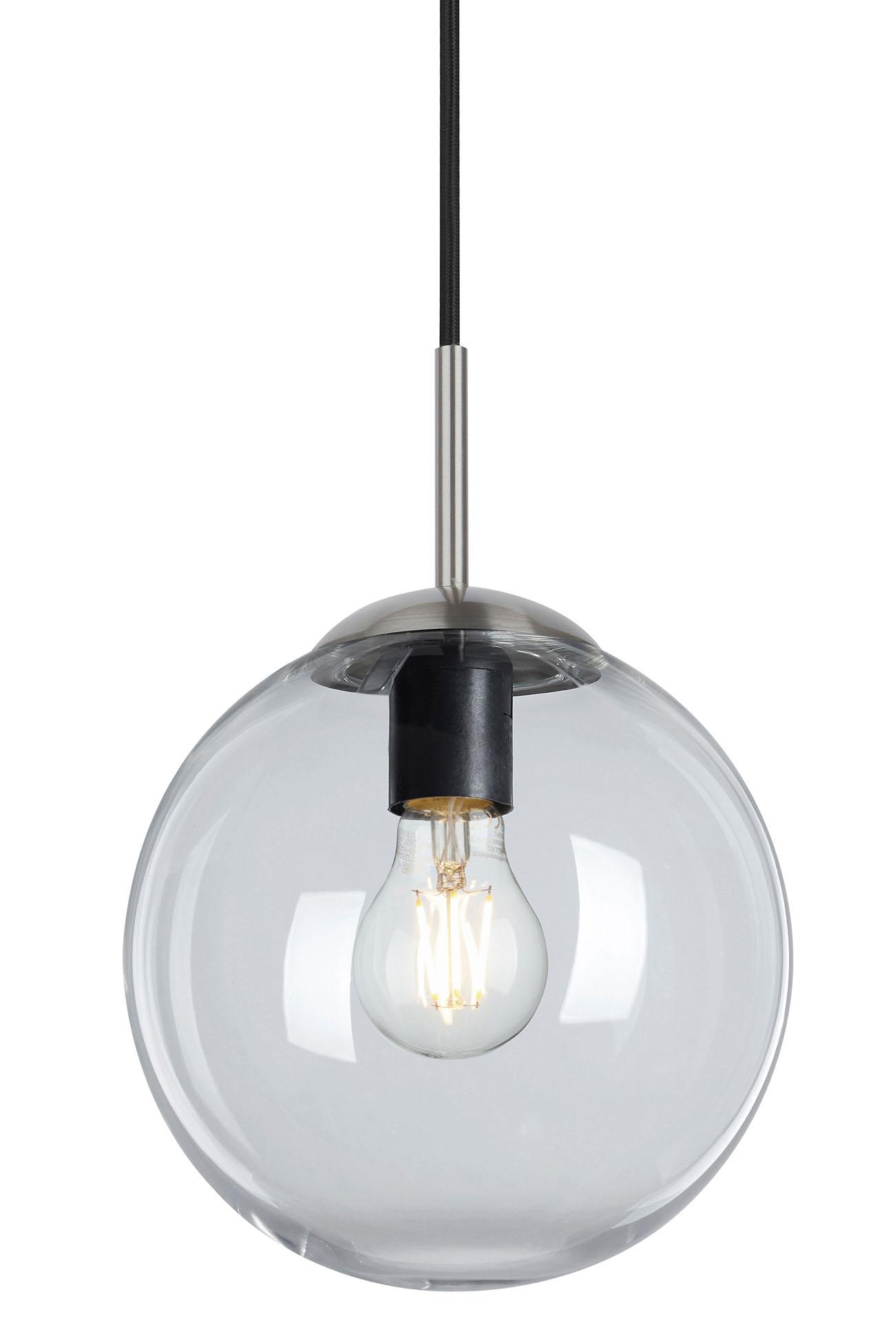 LED Pendelleuchte, Ø 20 cm, max. 40 W, Matt-Nickel