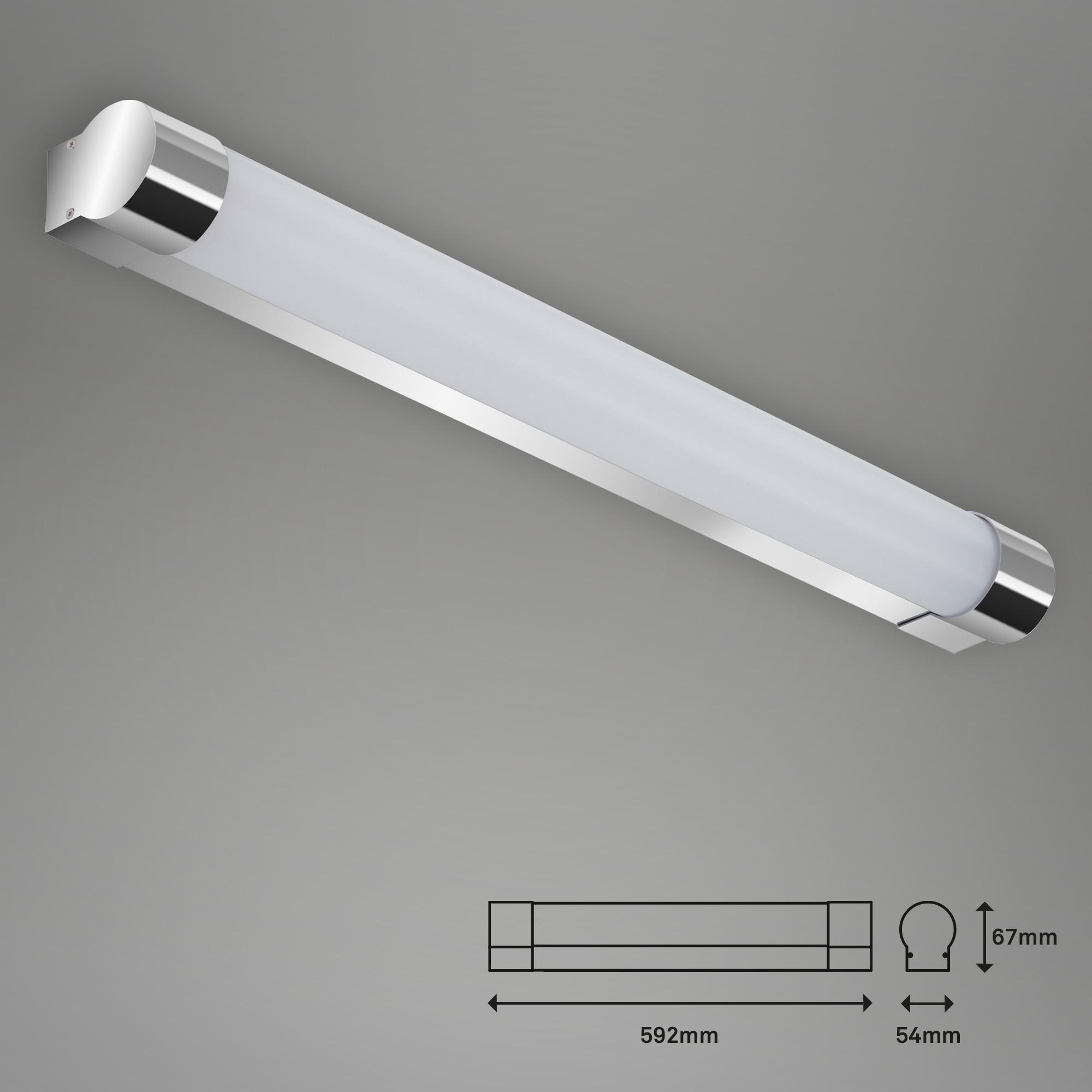 LED Wand- und Deckenleuchte, 59,2 cm, 10 W, Chrom