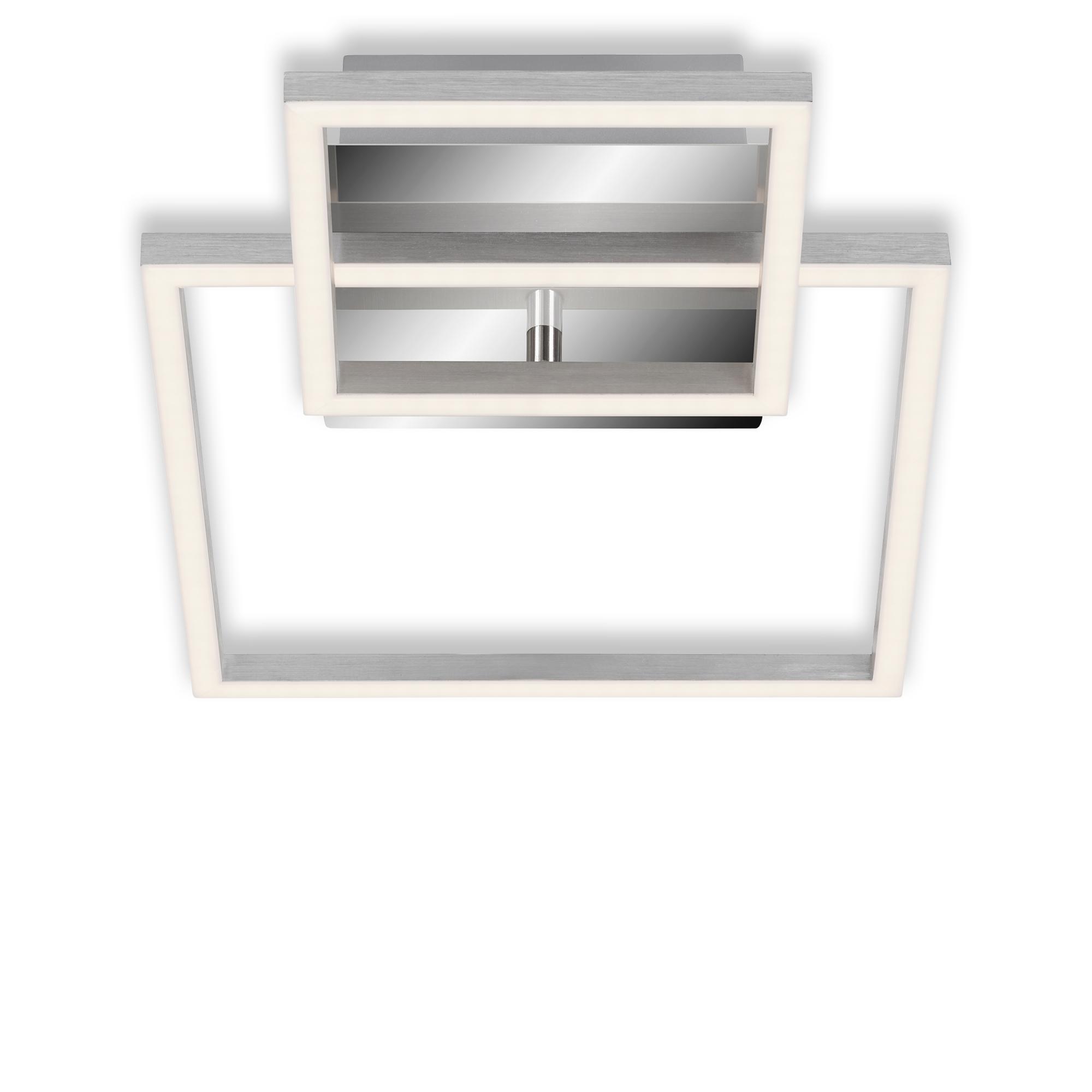 LED Deckenleuchte, 35,8 cm, 19,6 W, Alu-Chrom